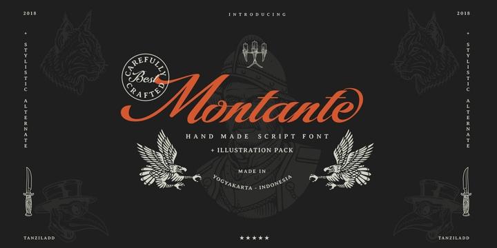 Montante手写英文时尚字体下载