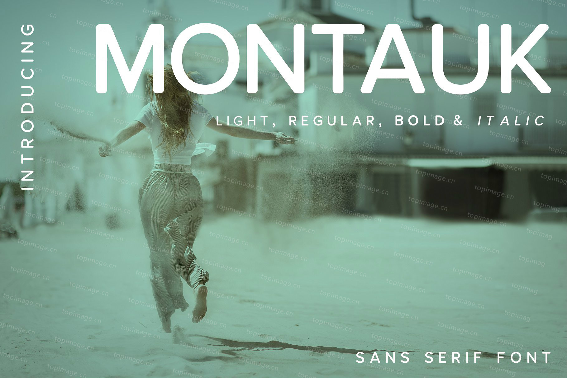 Montauk圆润简洁现代无衬线英文字体下载