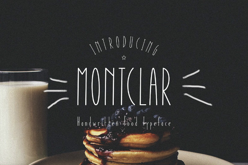 Montclar细长可爱简洁卡通手绘英文字体下载