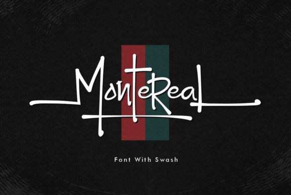 Montereal创意手写英文字体下载