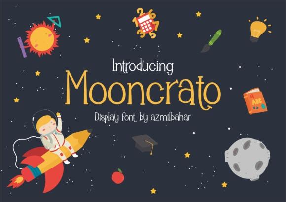 Mooncrato个性卡通游戏可爱英文字体下载