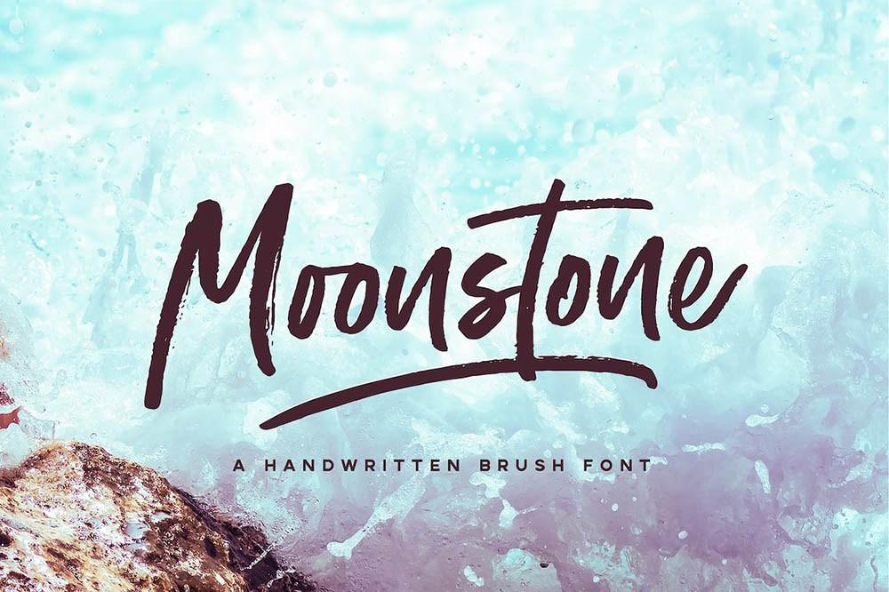 Moonstone个性手写笔刷海报英文字体下载