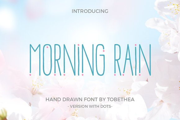 MorningRainDot细长简洁创意英文logo字体下载