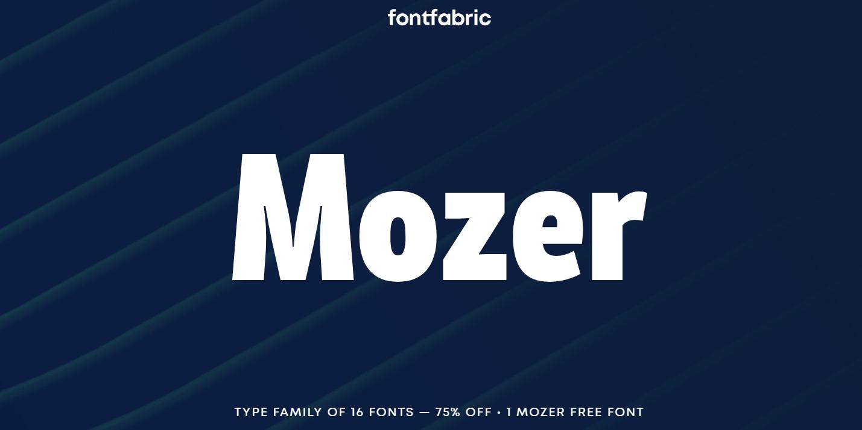 Mozer现代logo无衬线英文字体下载