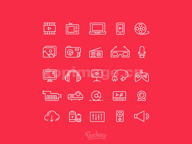 线性icon 音乐相关 music图标icon源文件下载
