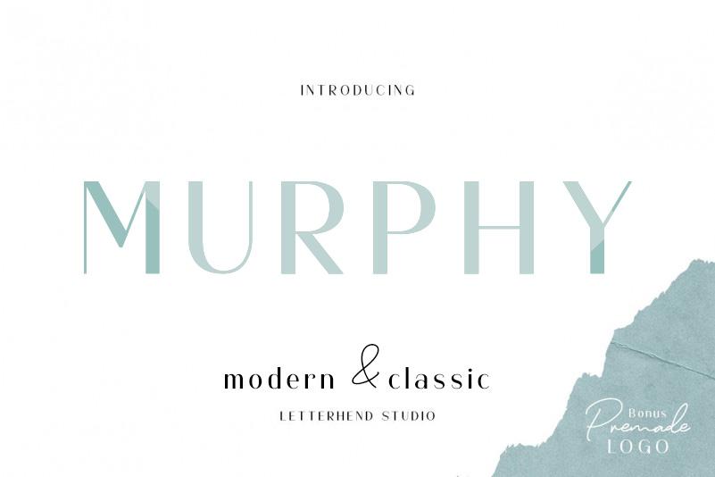 Murphy Sans 现代经典无衬线简洁logo设计排版英文字体下载