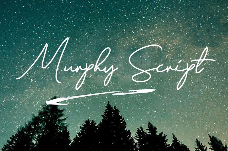 Murphy Script 手写连笔签名细英文字体下载