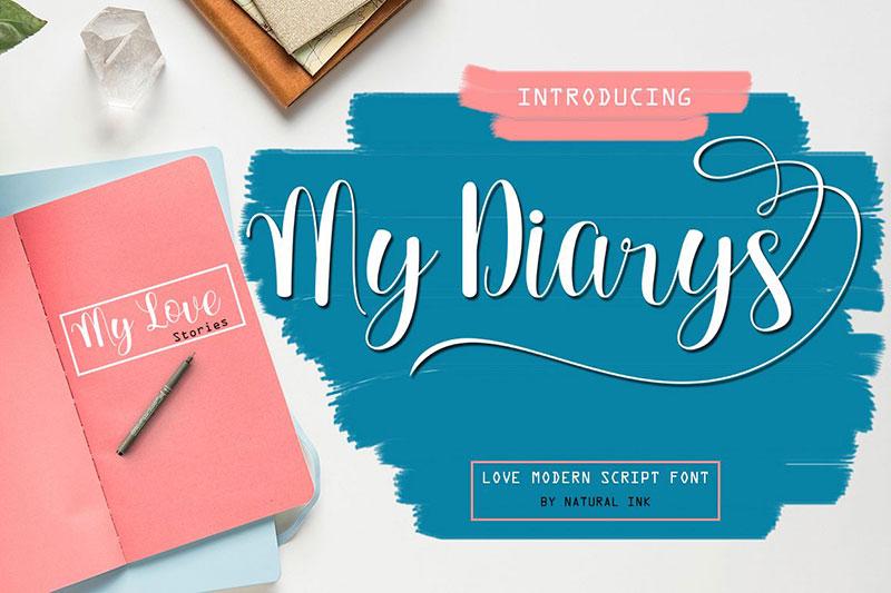 My Diarys飘逸花式英文字体下载
