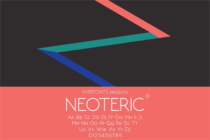 NEOTERIC极简纤细logo英文字体下载