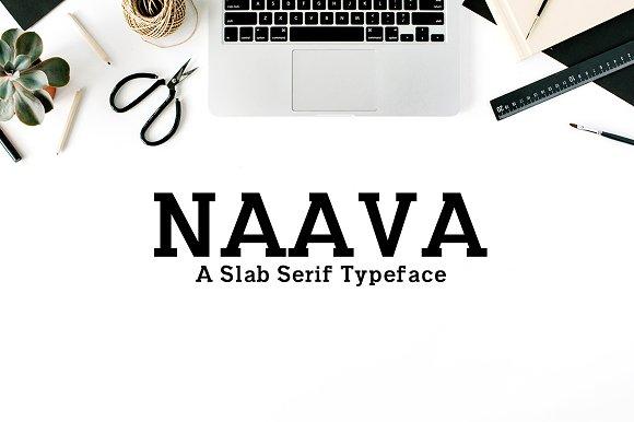 Naava海报简约衬线logo英文字体下载(系列字体)