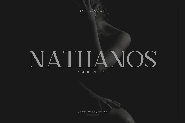 Nathanos现代衬线时尚fashion杂志封面英文字体