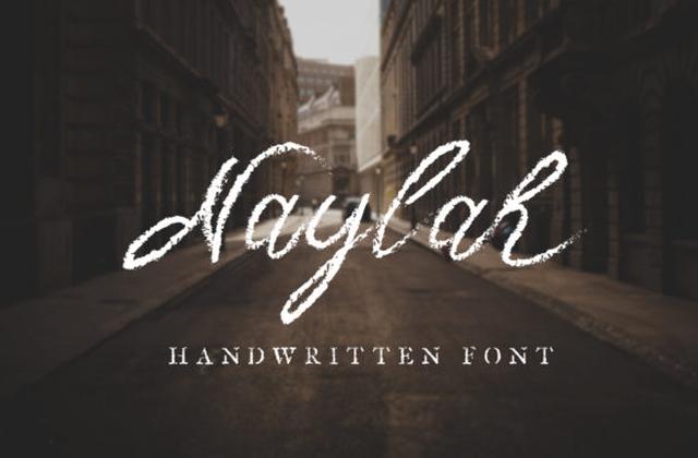 Naylah个性笔触纹理蜡笔手写英文字体下载