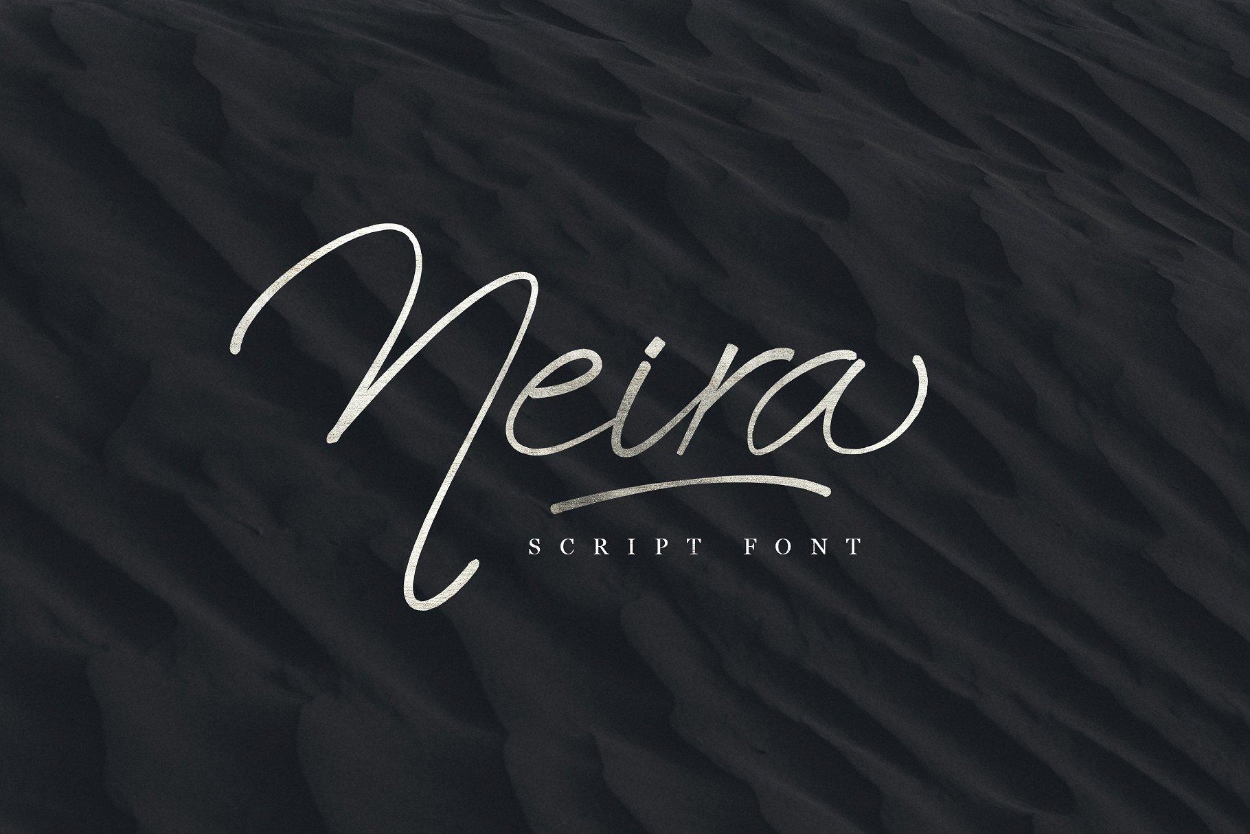 Neira手写文艺艺术签名英文字体下载