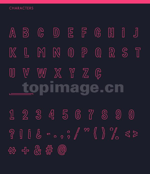 好看的英文字体Neoneo现代简洁下载