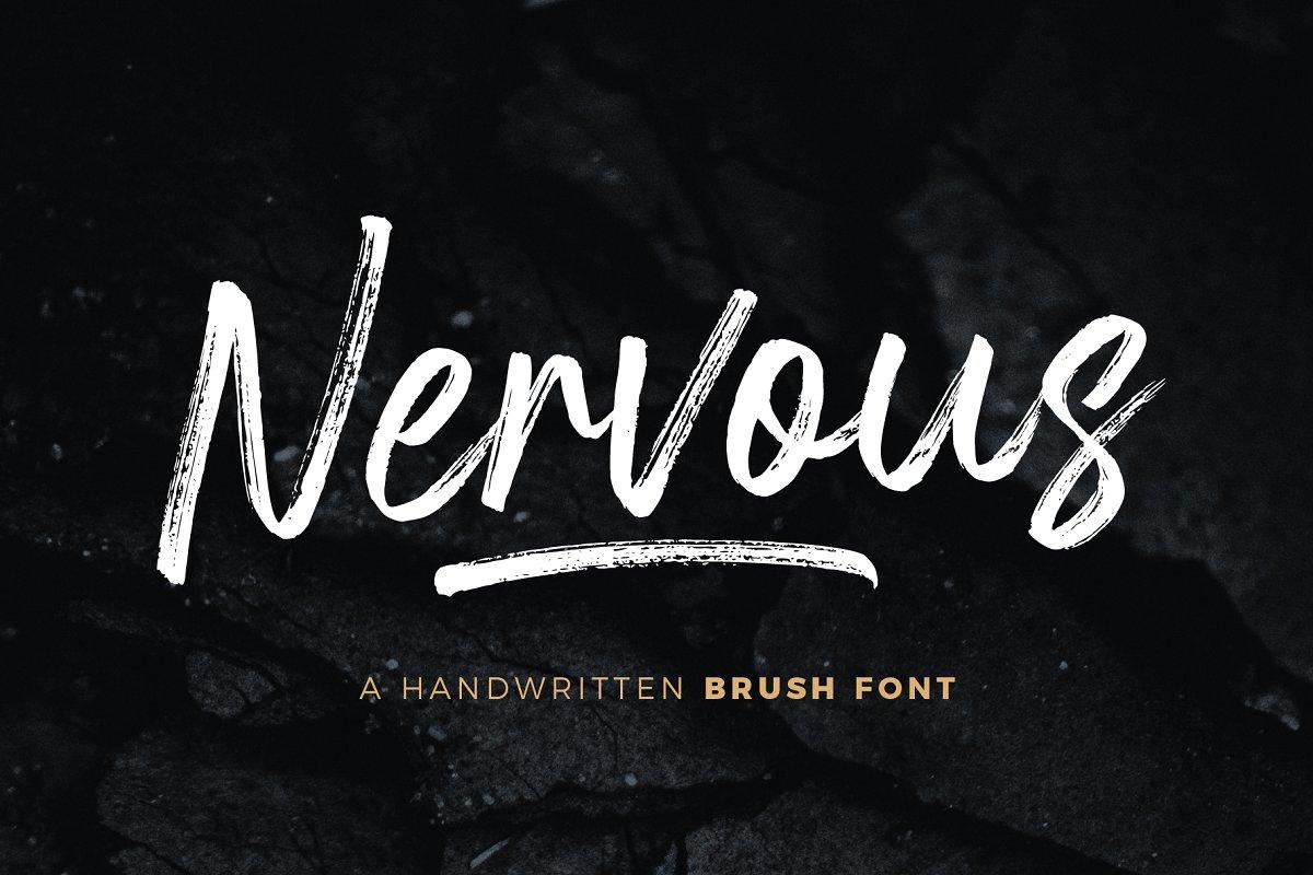 Nervous手写书法笔触毛笔英文字体下载