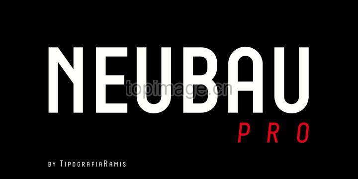 Neubau无衬线现代简洁logo英文字体下载