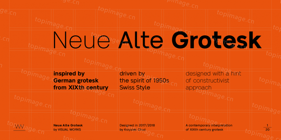 NeueAlte Grotesk现代极简洁细logo英文字体