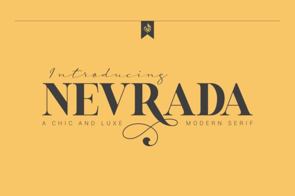 Nevrada衬线时尚设计logo英文字体下载