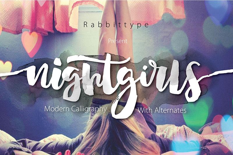 Nightgirls手写英文字体下载