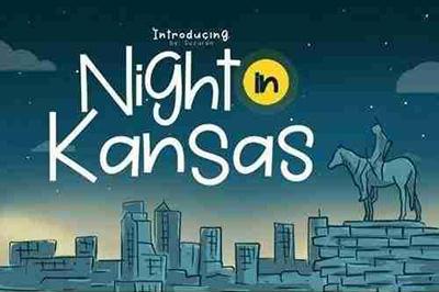 Night in Kansas卡通趣味手写手绘英文字体下载