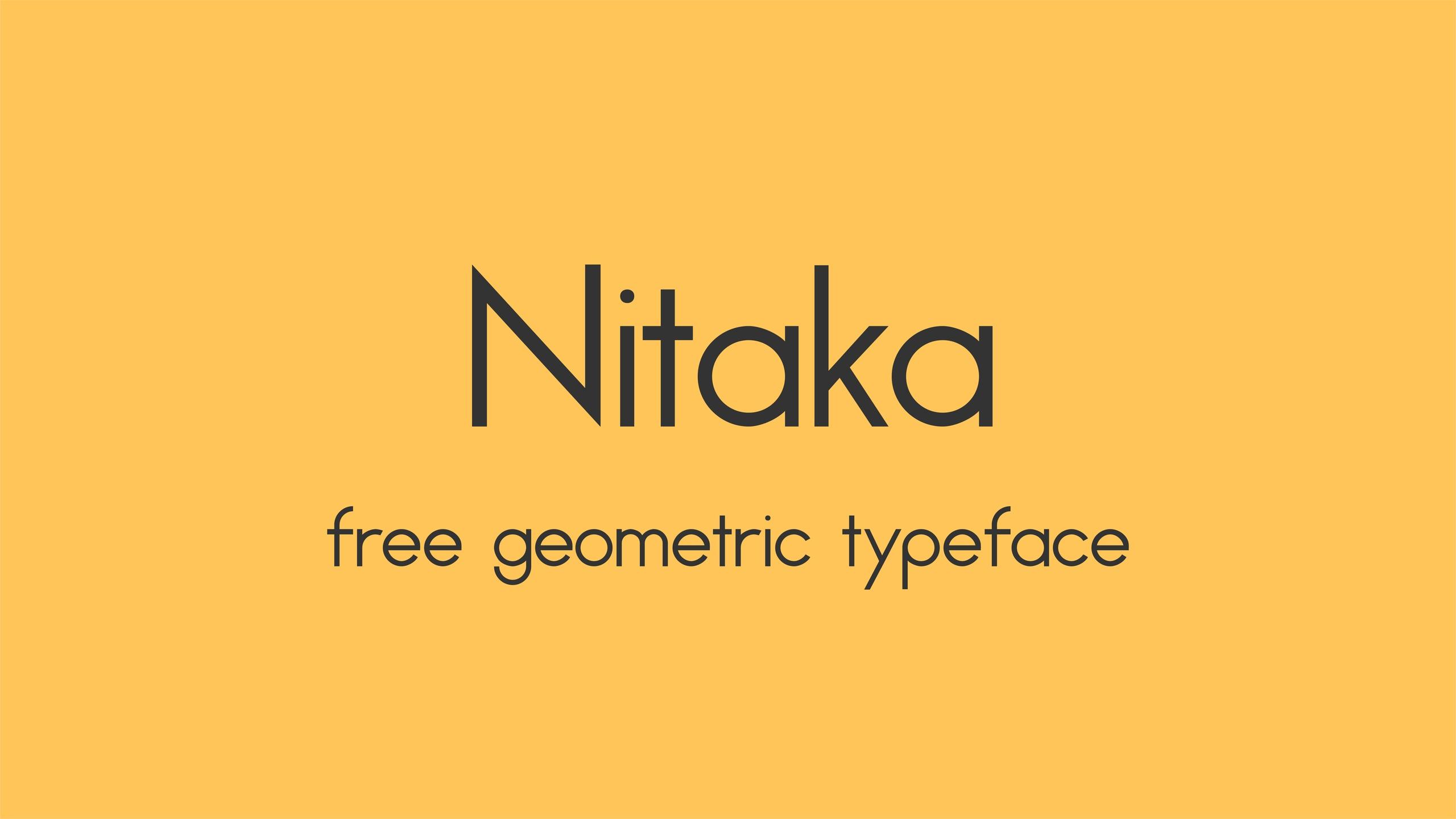 Nitaka现代简约圆润logo设计英文字体下载