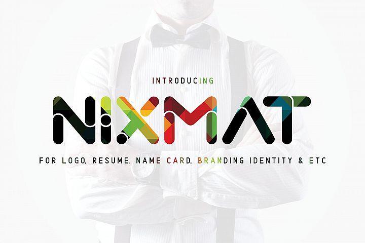 Nixmat现代圆润无衬线简洁logo英文字体下载