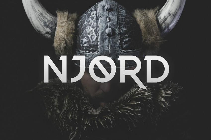 Njord个性logo游戏英文字体下载