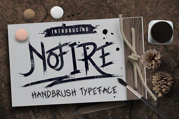 NoFire书法笔触毛笔喷溅英文字体下载