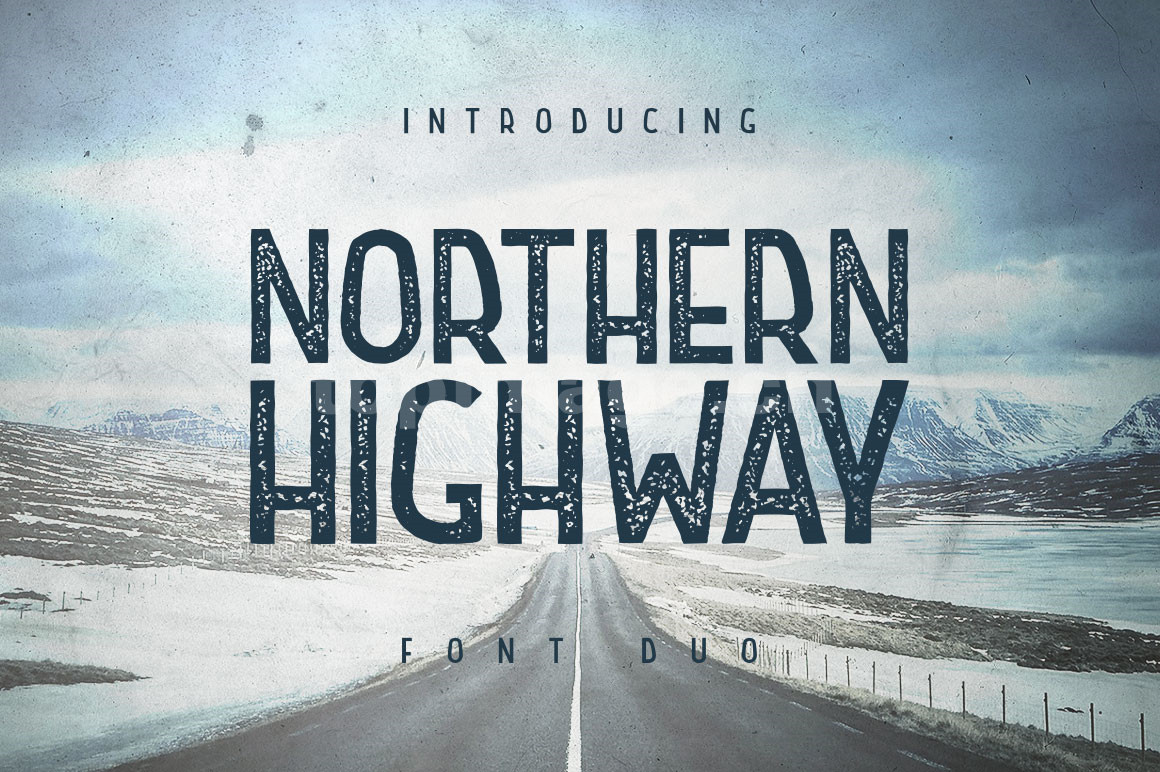 Northern Highway手写手绘英文海报字体下载