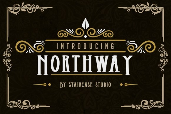 Northway衬线复古等宽设计手写英文字体下载