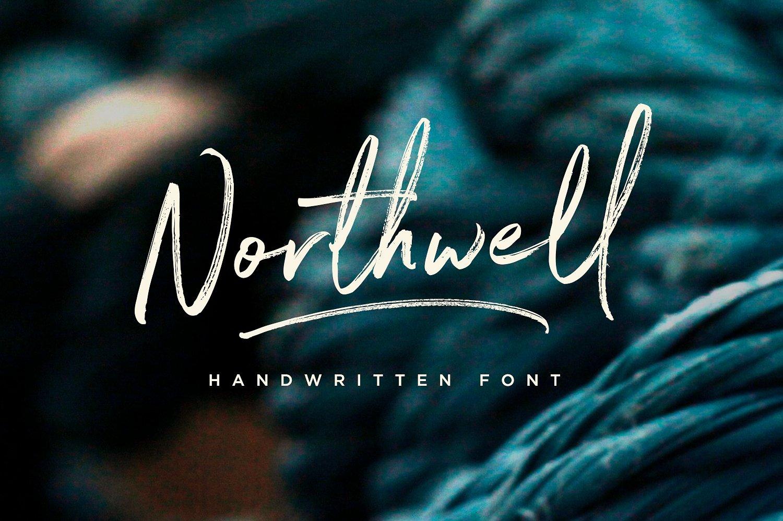 Northwell肌理笔刷手写连笔英文字体下载
