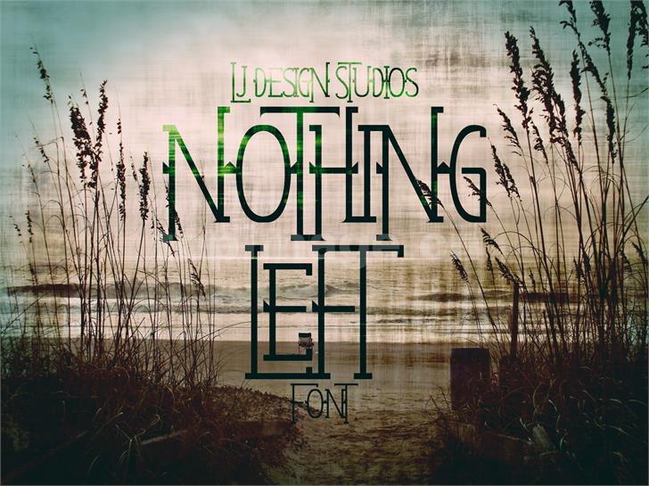 NothingLeft简约纤细个性化斑驳质感海报英文字体下载