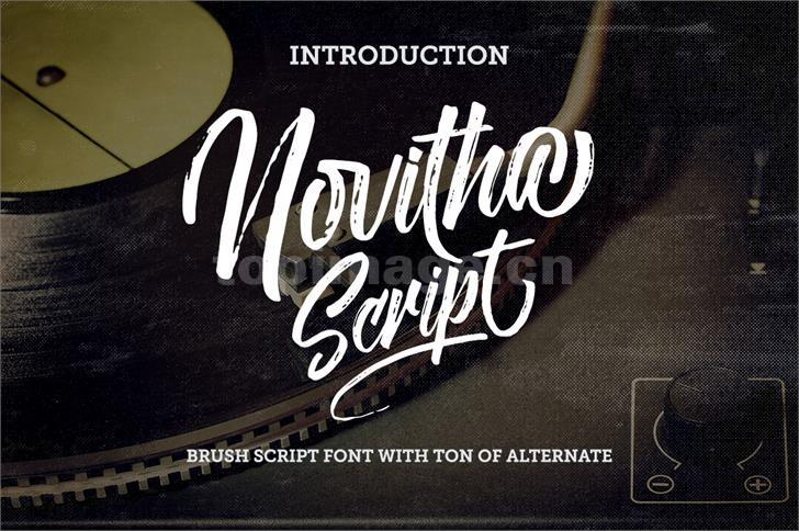 Novitha好看的书法英文logo 手绘手写英文字体下载