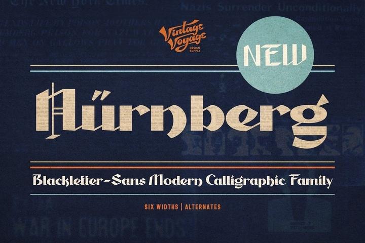 Nurnberg个性现代创意logo设计英文字体下载