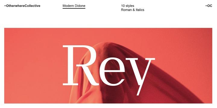 OC Rey衬线经典logo设计英文字体下载