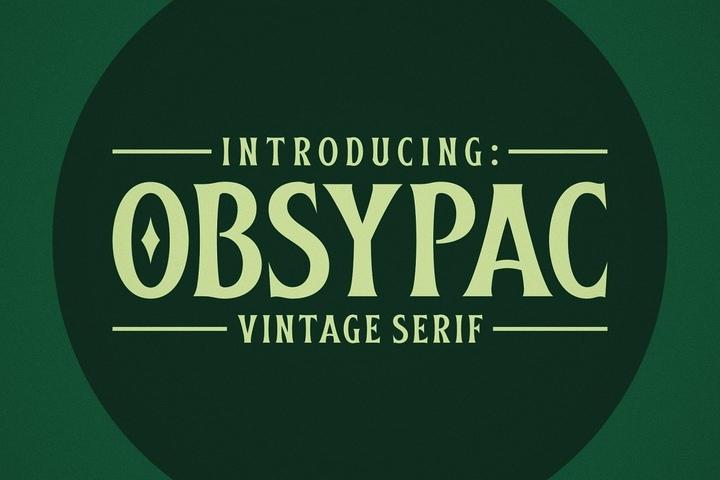 Obsypac哥特个性现代英文字体下载