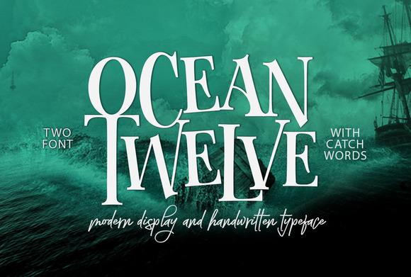 Ocean Twelve个性衬线游戏英文字体下载