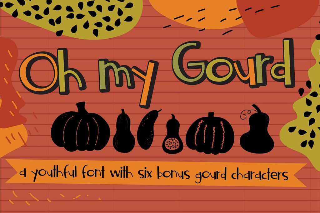 Oh My Gourd 手写手绘卡通英文字体下载
