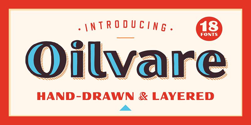 Oilvare现代logo英文字体下载