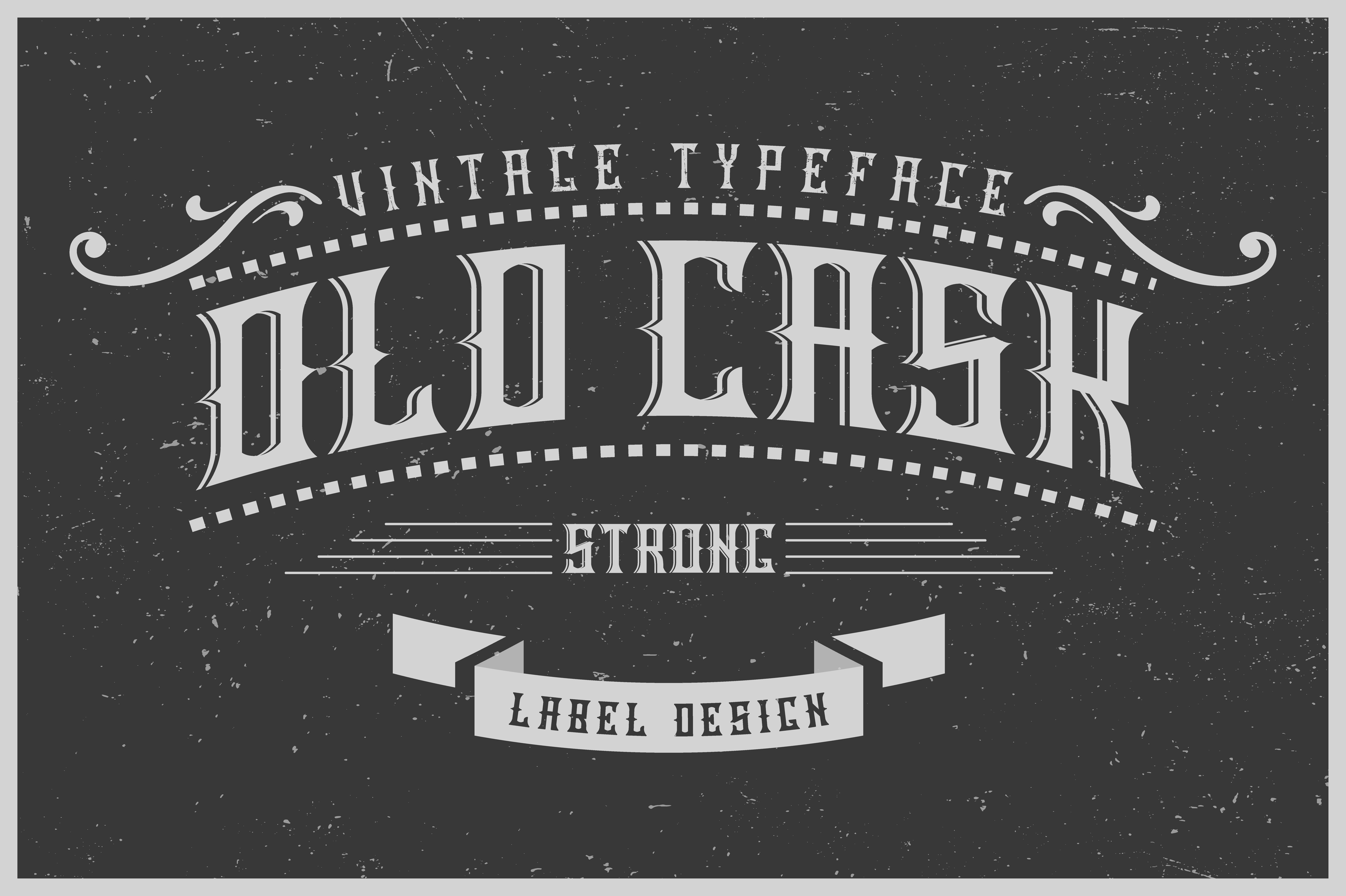 OldCask哥特老式纹身英文字体下载