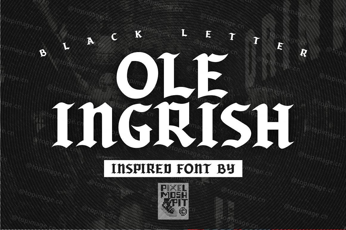 Ole Ingrish哥特式个性纹身英文字体下载