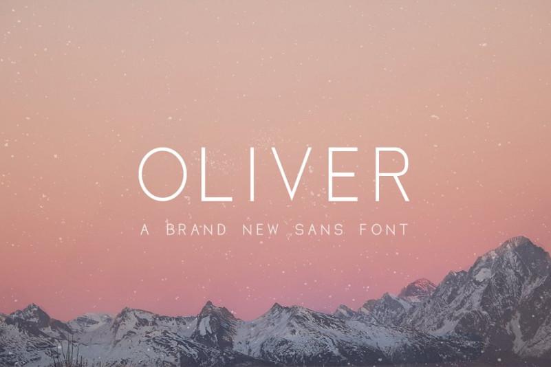 Oliver现代品牌logo简洁英文字体下载