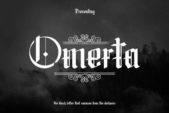 Omerta哥特纹身游戏英文字体下载