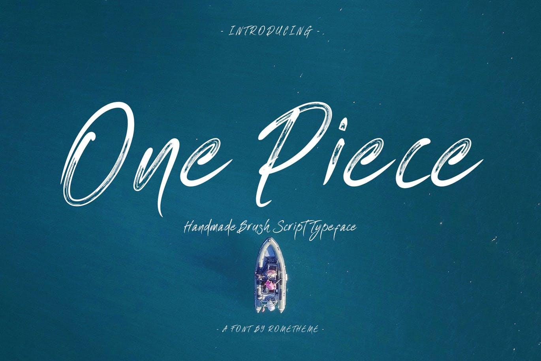 One Piece 手写笔触毛笔好看的英文字体下载