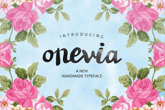 Onevia欧式古典手写连笔英文字体下载