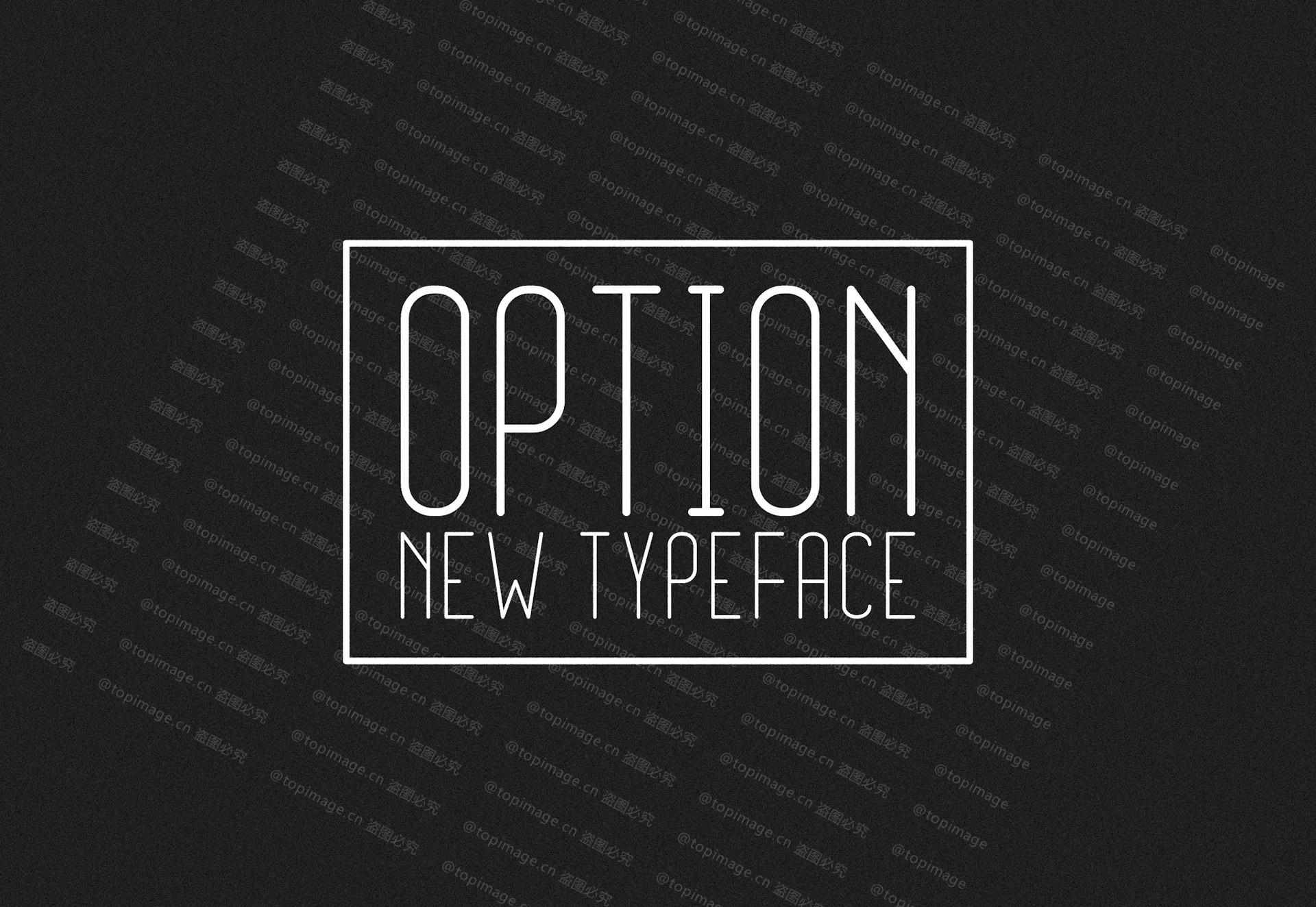 OptionLight纤细现代极简细长海报英文字体下载