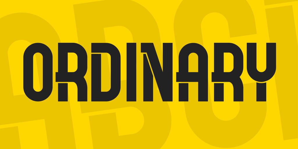Ordinary现代时尚大气logo英文字体下载