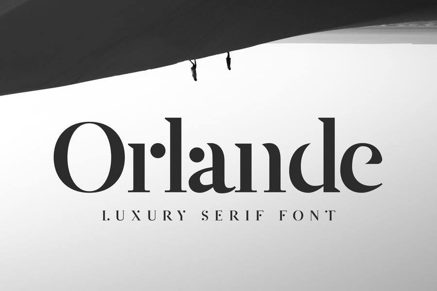 Orlande奢侈品logo衬线英文字体下载