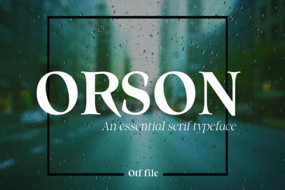 Orson手写衬线英文字体下载