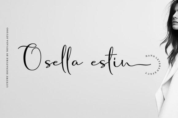 Osella estin 小清新文艺手写连笔ins英文字体下载